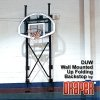 DUW Draper Premium Up Folding Wall Mounted Basketball Backstop