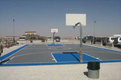 U.S. Air Force Base uses Flex Court Outdoor Athletic Surface for their Basketball Court