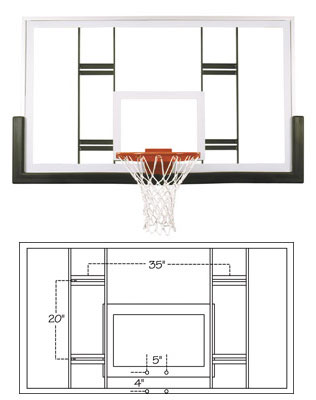 First Team Ft239 Competition Glass Basketball Backboard At