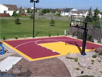 How to install a backyard basketball court for How to build basketball court