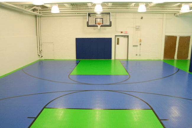 Best snap together indoor outdoor basektball court Indoor basketball court ceiling height