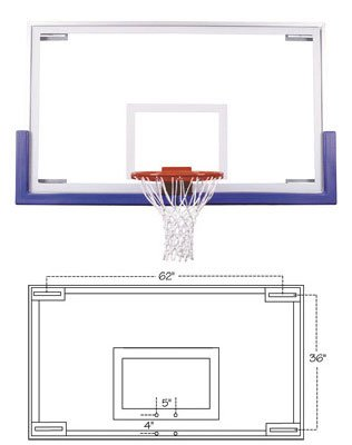 Ft235 Competition Glass Basketball Backboard