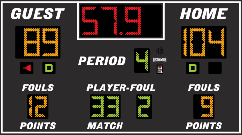 9x5 Basketball Scoreboard