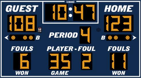 9x5 Outdoor Basketball Scoreboard