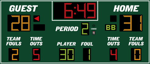 14x6 Basketball Scoreboard