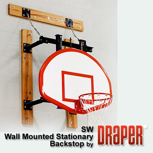 SW Stationary Wall Mount Basketball Backstop