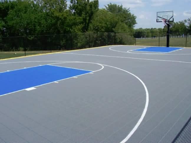 Basketball Court Tiles At Basketball Goals Com