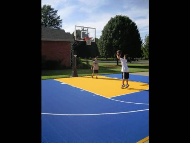 Basketball Court Tiles At Basketball Goals Com