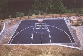 Basketball court stencil kit from basketball for Sport court pricing