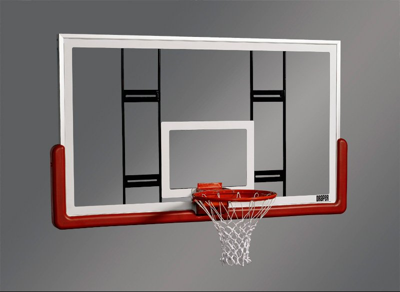 "Rectangular Glass 72"" x 42"" Conversion Basketball Backboard"