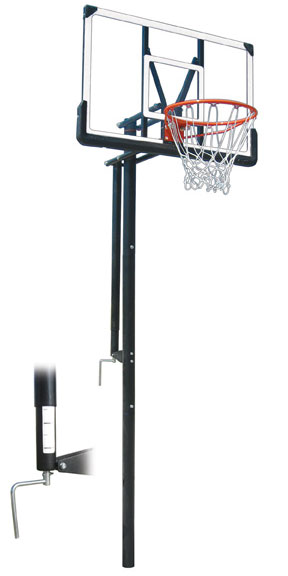Intruder Adjustable Basketball Goal At Basketball Goals Com