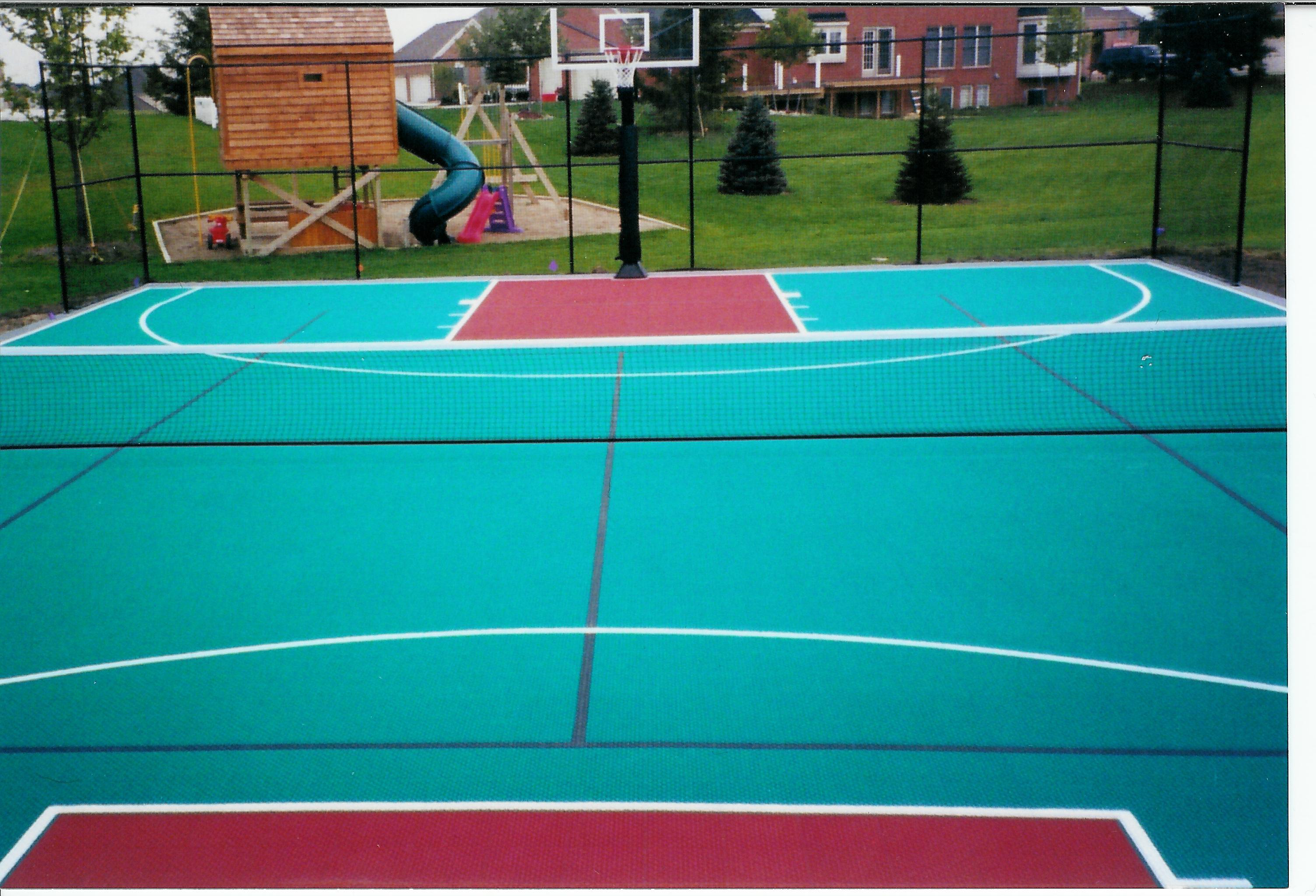 Basketball court tile photos
