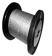 "25 feet of 1/4"" Aircraft Cable per lin/ft"