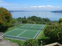 sport floor tennis court construction