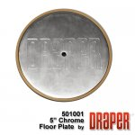 "5"" Chrome Plated Floor Cover Plate Assembly"