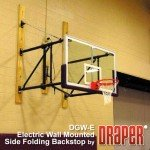 DGW-E Electric Wall Mounted Side-Folding Basketball Backstop