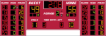 18x6 Basketball Scoreboard with Player Stat Panels