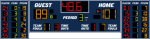 23x6 Basketball Scoreboard with Player Stat Panels