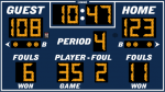 9x5 Outdoor Basketball Scoreboard