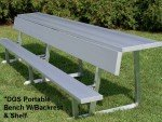 Portable Bench with Shelf