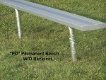 In Ground Bench without Back (galvanized legs)