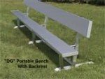 Portable Bench With Back (Indoor)